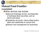 mutual fund families concluded