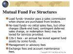mutual fund fee structures
