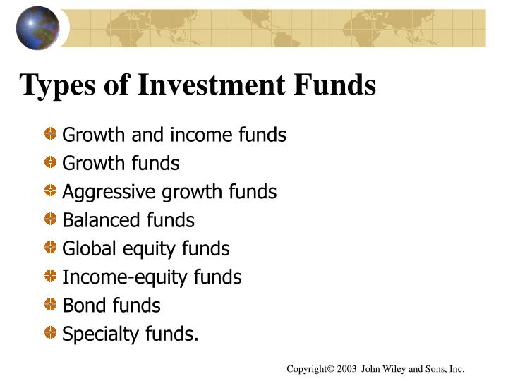 Types of Investment Funds