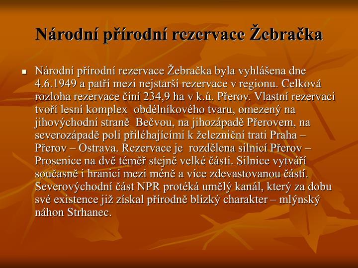 Národní přírodní rezervace Žebračka
