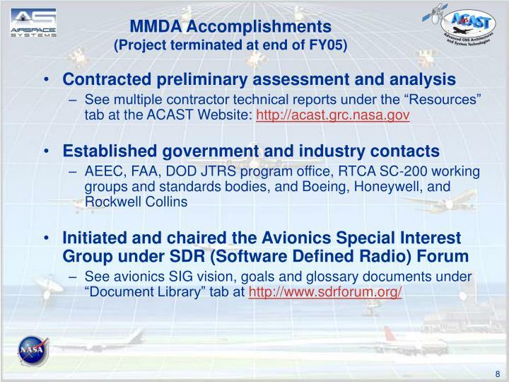 MMDA Accomplishments