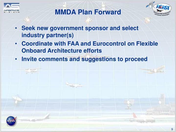 MMDA Plan Forward
