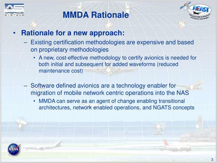 MMDA Rationale