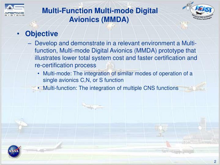 Multi-Function Multi-mode Digital Avionics (MMDA)