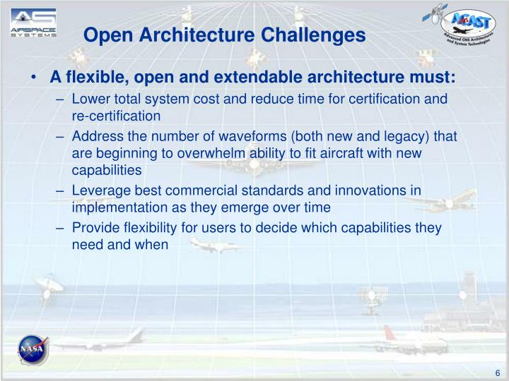 Open Architecture Challenges