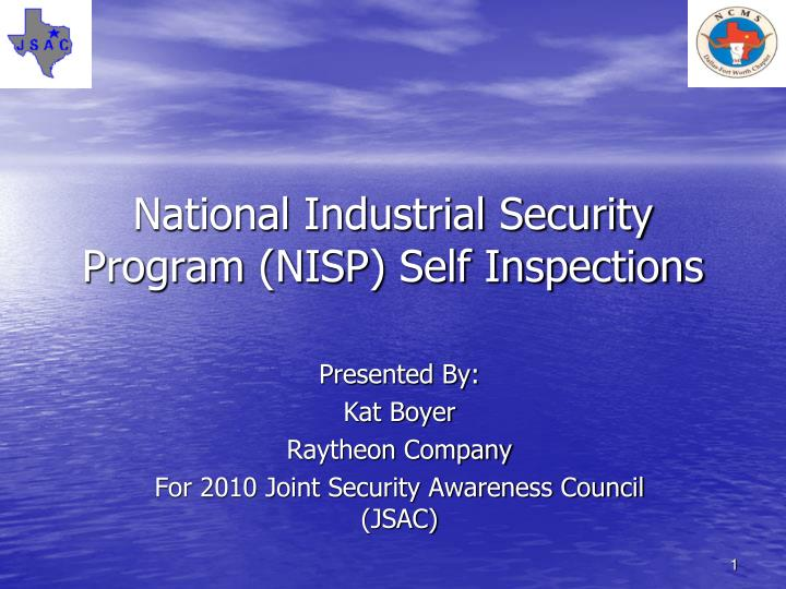 National industrial security program nisp self inspections