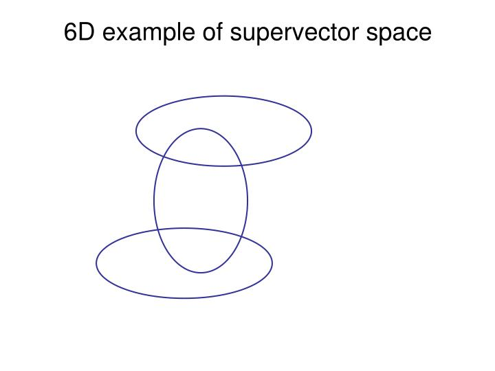 6D example of supervector space