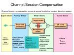 channel session compensation