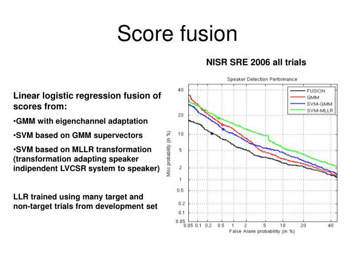 Score fusion