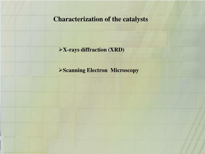 Characterization of the catalysts