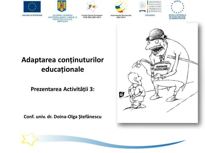 Adaptarea conținuturilor educaționale