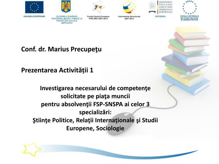 Conf. dr. Marius Precupeţu