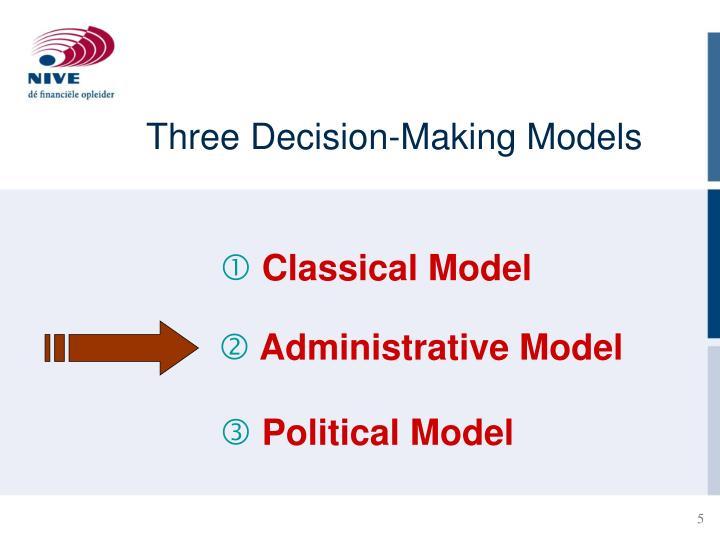 Three Decision-Making Models