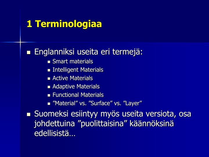 1 Terminologiaa