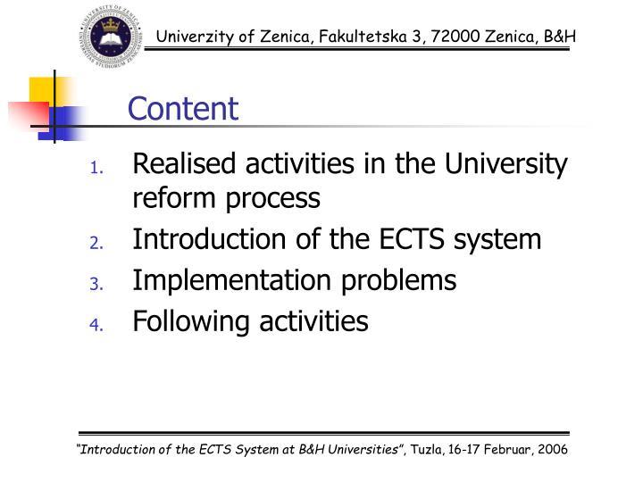 Univerzity of Zenica, Fakultetska 3, 72000 Zenica, B&H