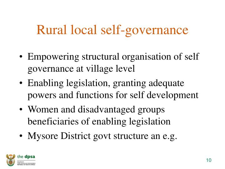 Rural local self-governance