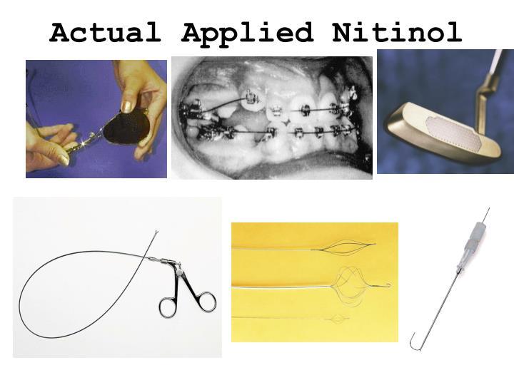 PPT - NITINOL PowerPoint Presentation - ID:4789177