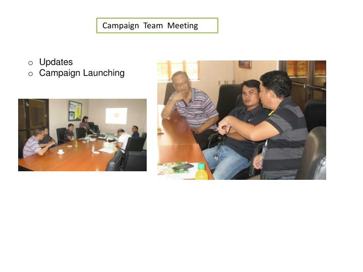 Campaign  Team  Meeting