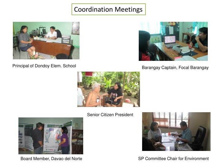 Coordination Meetings