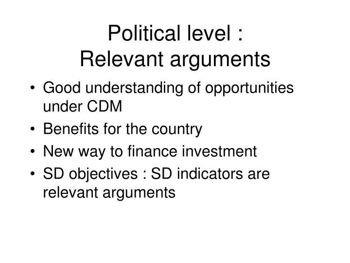 Political level :