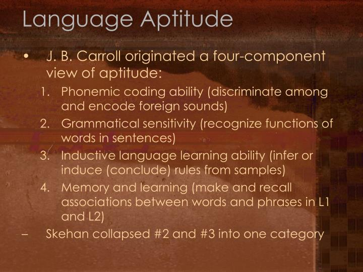 Language Aptitude