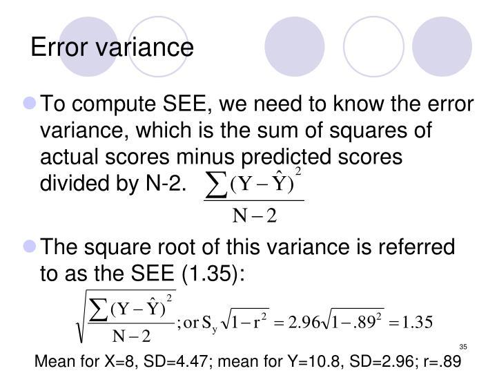 Error variance