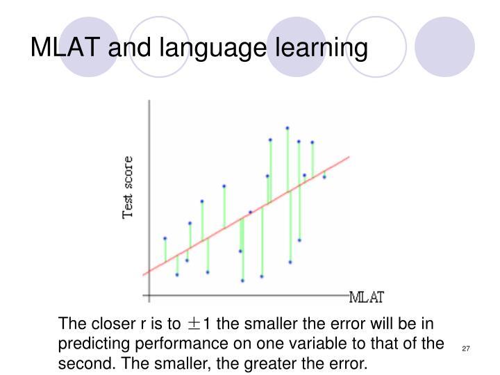 MLAT and language learning