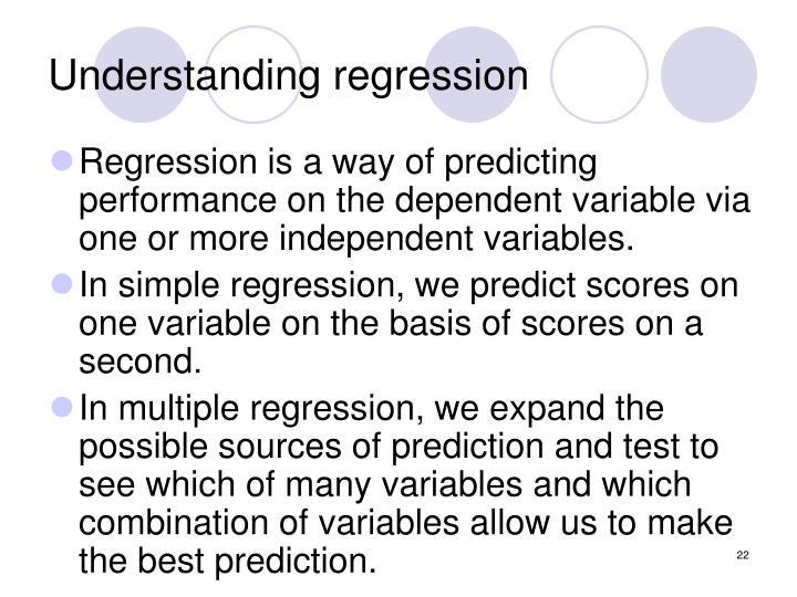 Understanding regression