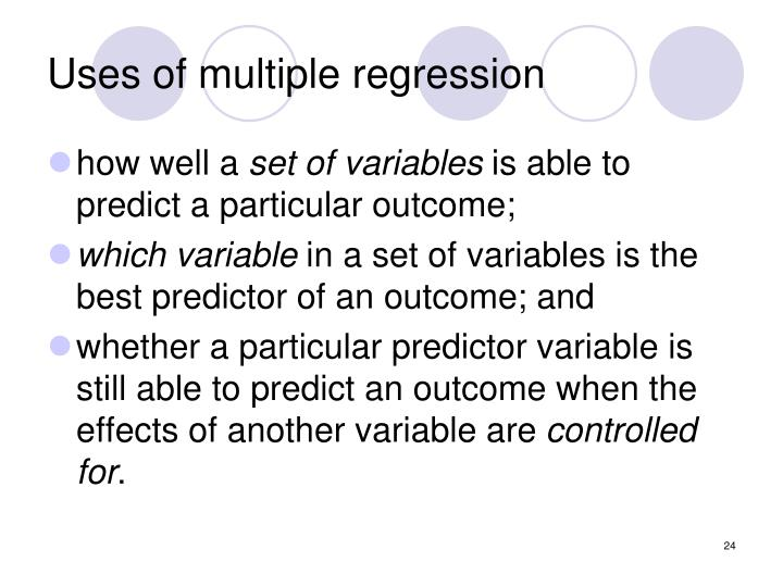 Uses of multiple regression