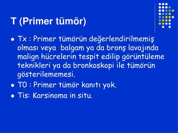 T (Primer tümör)