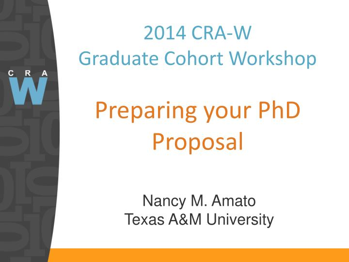 2014 cra w graduate cohort workshop