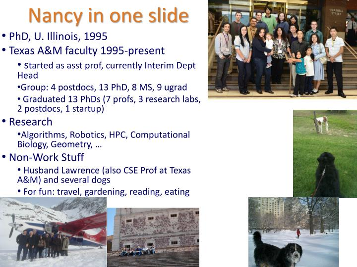 Nancy in one slide