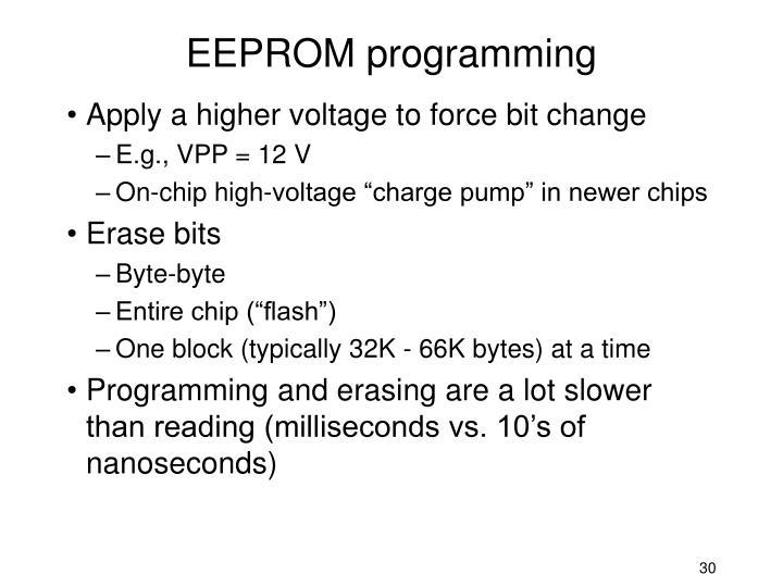 EEPROM programming