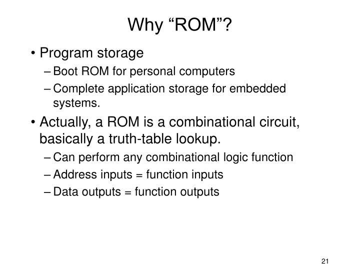 "Why ""ROM""?"