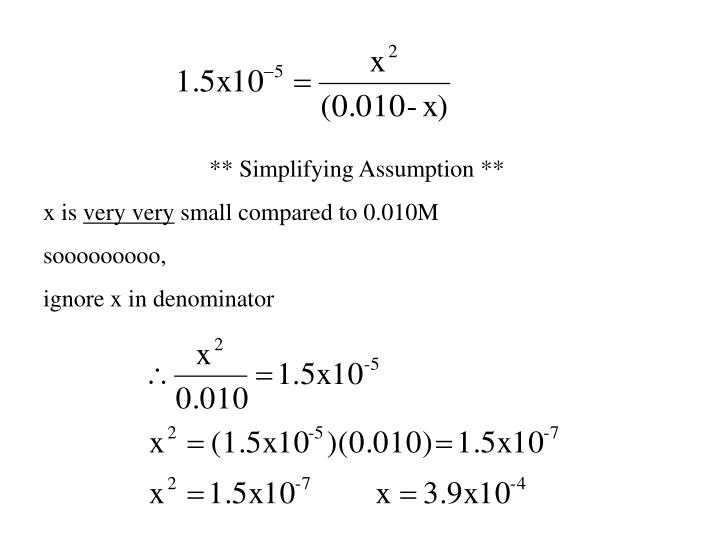 ** Simplifying Assumption **