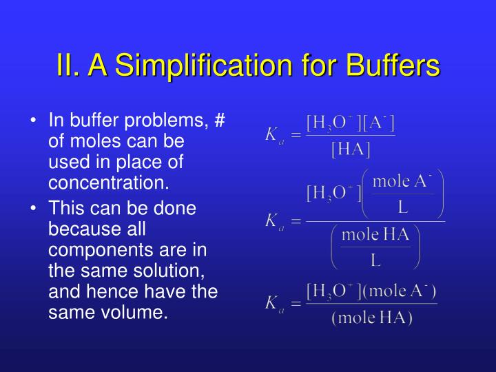 II. A Simplification for Buffers