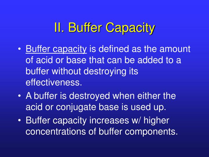 II. Buffer Capacity