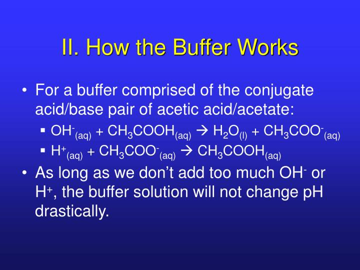 II. How the Buffer Works