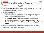 local specialty groups lsg