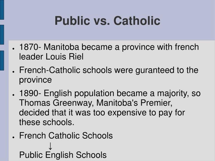 an overview of the catholic school versus public school If you are trying to decide between public school versus a christian school then this article can help public school vs christian school roman catholic church of god latter day saints seventh day adventist.