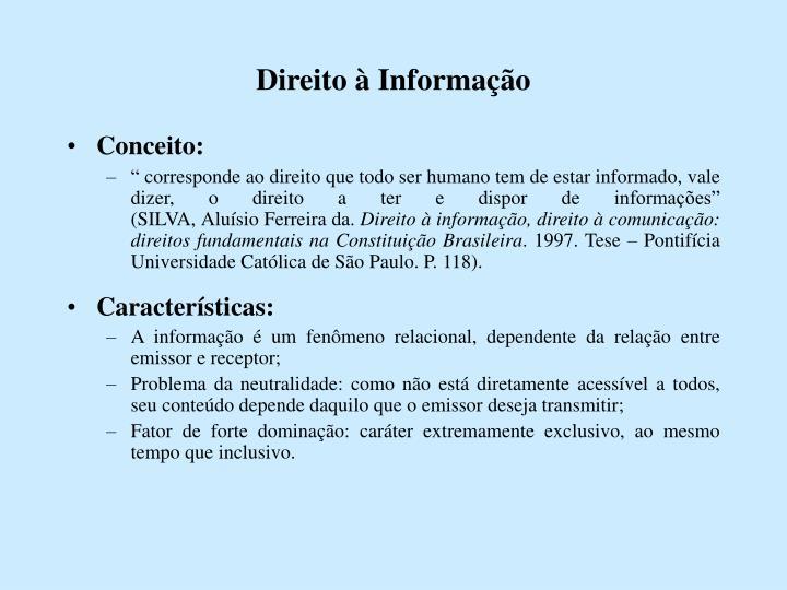 Direito à Informação