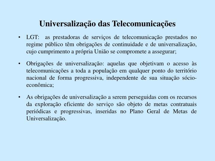 Universalização das Telecomunicações