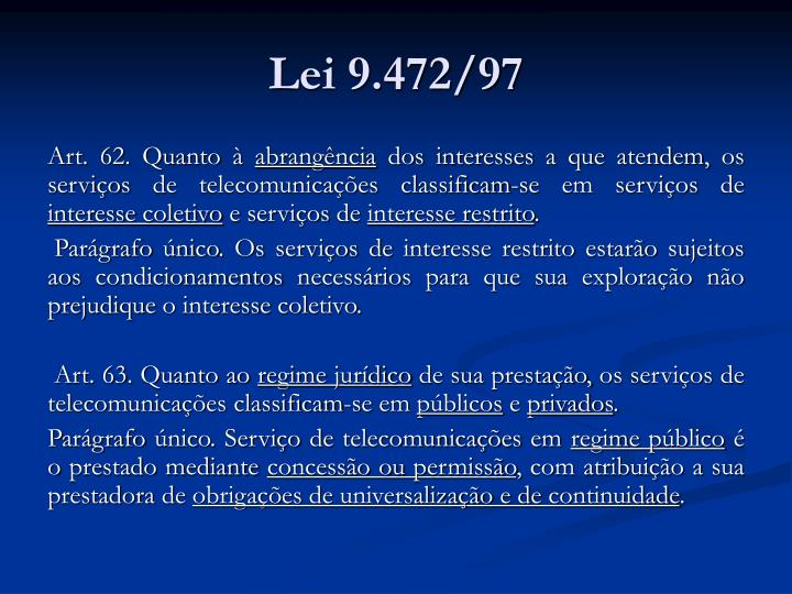 Lei 9.472/97