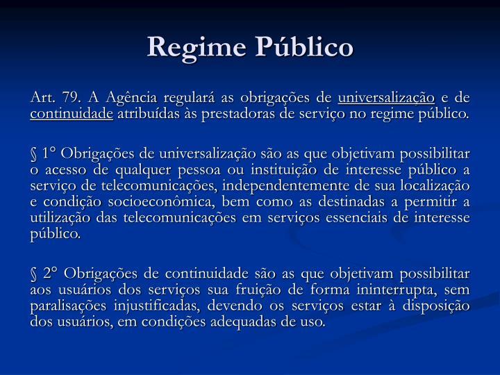 Regime Público