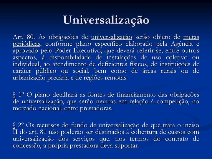 Universalização