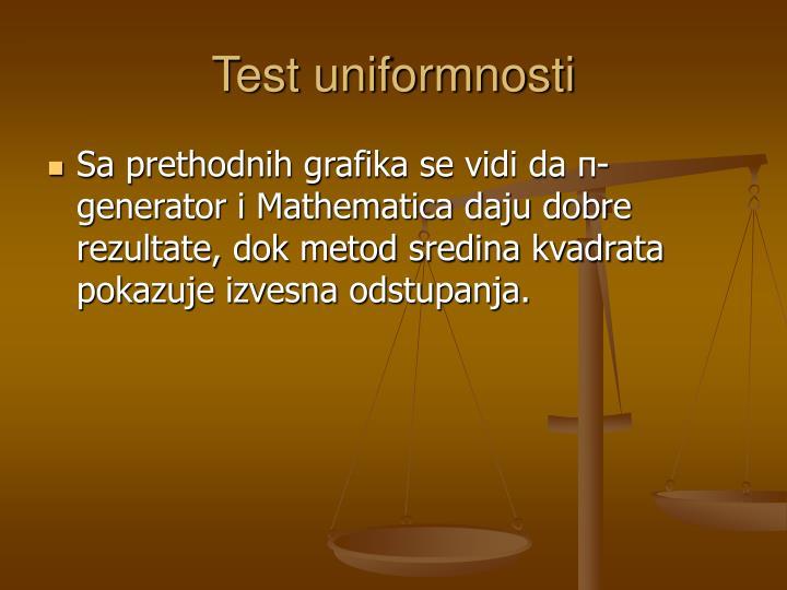 Test uniformnosti