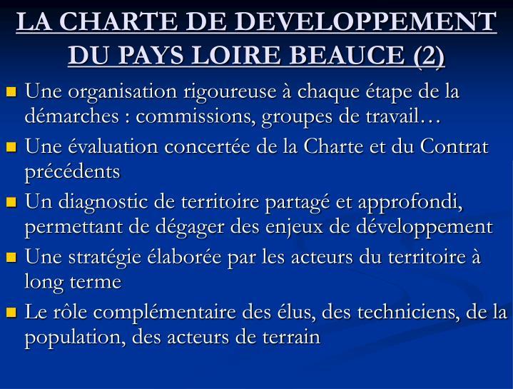 LA CHARTE DE DEVELOPPEMENT DU PAYS LOIRE BEAUCE (2)