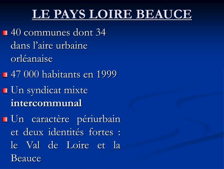 LE PAYS LOIRE BEAUCE