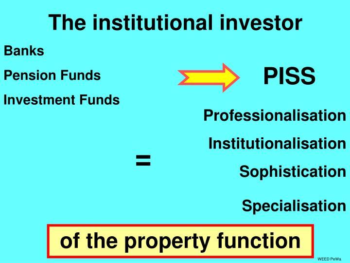 The institutional investor