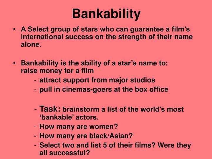 Bankability